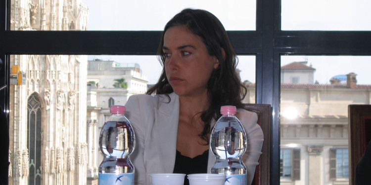Emma Baudey, Arts and Culture Manager and curator from Bank of America Merrill Lynch Collection, press conference, Septeber 29th, 2011, Museo del Novecento, Milan