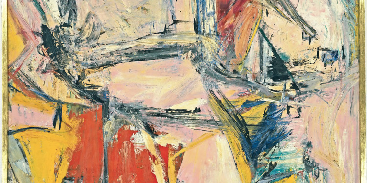 "Willem de Kooning (American, born the Netherlands. 1904-1997) Interchanged 1955 Oil on canvas 79 x 69"" (200.7 x 175.3 cm) Collection David Geffen, Los Angeles © 2011 The Willem de Kooning Foundation/Artists Rights Society (ARS), New York"