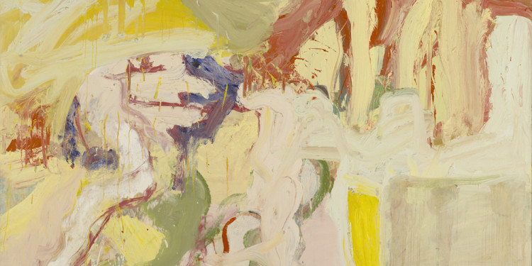 "Willem de Kooning (American, born the Netherlands. 1904-1997) Montauk I 1969 Oil on canvas 88 x 77"" (223.5 x 195.6 cm) Wadsworth Atheneum Museum of Art, Hartford, CT. The Ella Gallup Sumner and Mary Catlin Sumner Collection Fund. © 2011 The Willem de Kooning Foundation/Artists Rights Society (ARS), New York"