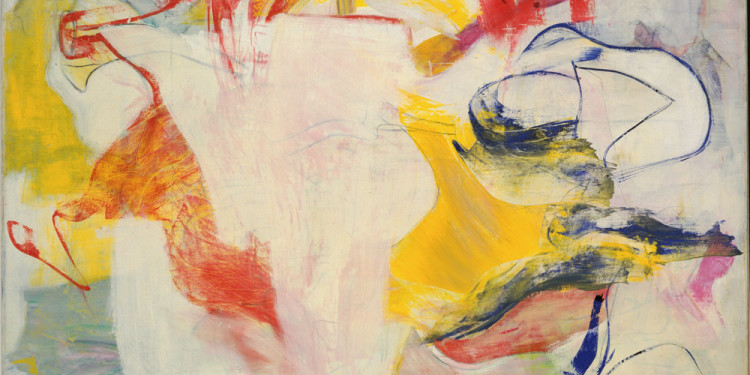 "Willem de Kooning (American, born the Netherlands. 1904-1997) Pirate (Untitled II), 1981 Oil on canvas 7' 4"" x 6' 4 3/4"" (223.4 x 194.4 cm) The Museum of Modern Art, New York. Sidney and Harriet Janis Collection Fund, 1982 © 2011 The Willem de Kooning Foundation / Artists Rights Society (ARS), New York"