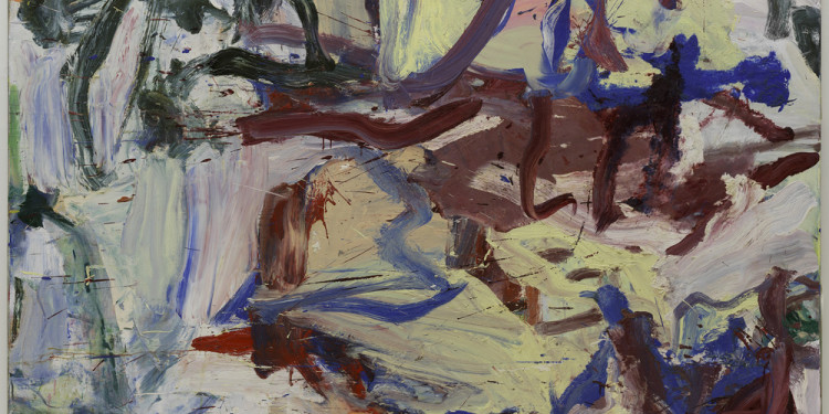 "Willem de Kooning (American, born the Netherlands. 1904-1997) ...Whose Name Was Writ in Water, 1975 Oil on canvas 76 3/4 x 87 3/4"" (195 x 222.9 cm) Solomon R. Guggenheim Museum, New York © 2011 The Willem de Kooning Foundation / Artists Rights Society (ARS), New York"