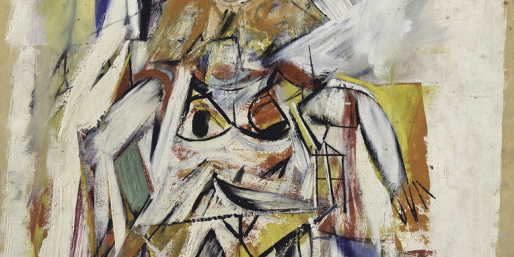 "Willem de Kooning (American, born the Netherlands. 1904-1997) Woman, 1950 Oil, cut and pasted paper on cardboard 14 3/4 x 11 5/8"" (37.5 x 29.5 cm) The Metropolitan Museum of Art, New York. From the Collection of Thomas B. Hess, Gift of the heirs of Thomas B. Hess, 1984 © 2011 The Willem de Kooning Foundation / Artists Rights Society (ARS), New York"