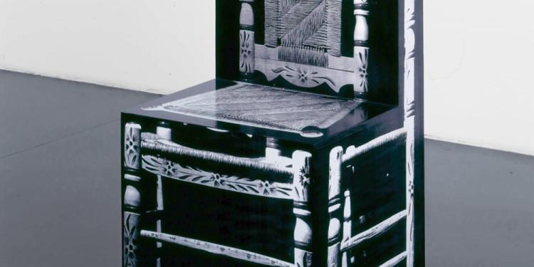 Richard Artschwager Chair (Sedia) 1965-2000, 1965-2000 acrilico, carta, legno cm 102,9 x 52,1 x 50,8 Sprüth Magers, Berlino-Londra