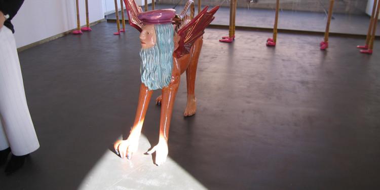allestimento RivoltArteAltrove, mostra di Luigi Ontani, nell'ambito del progetto Le scatole viventi/The Living Boxes