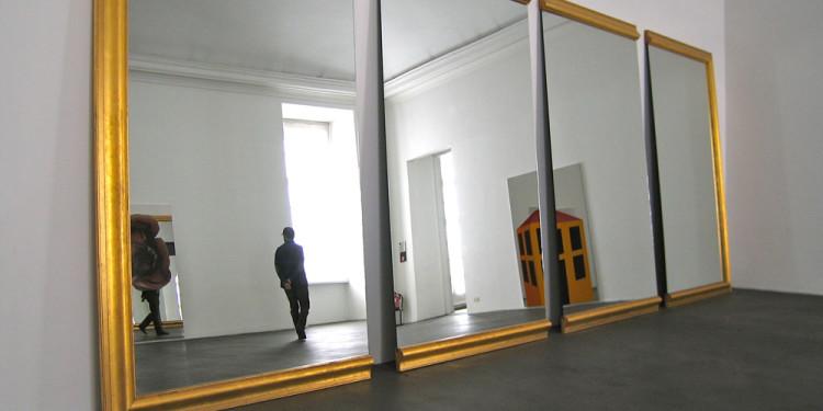 allestimento Arte Povera International al Castello di Rivoli