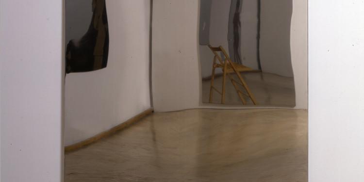 Michelangelo Pistoletto Lampadina, 1962-1966 velina dipinta su acciaio inox lucidato a specchio 230 x 120 cm Courtesy Cittadellarte - Fondazione Pistoletto, Biella Attilio Maranzano, Roma © M.Pistoletto by SIAE 2011