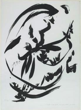 c'écrit c'est écrit mais ça n'était pas écrit, 1975 Encre de Chine et mine graphite sur papier 76,1 x 55,5 cm Signé et daté en bas à gauche : Dotremont / 1975 Paris, Centre Pompidou, Musée national d'art moderne, cabinet d'art graphique - Acquis de la Galerie de France, 1975 Inv. : AM 1975-196 © Centre Pompidou, MNAM-CCI / Georges Méguerditchian / Dist. RMN-GP