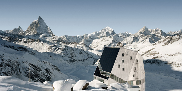 ETH-Studio Monte Rosa with Bearth & Deplazes Architekten AG, New Monte Rosa hut, Valais, Switzerland, 2009 ETH Zürich Corporate Communications photo: © Tonatiuh Ambrosetti