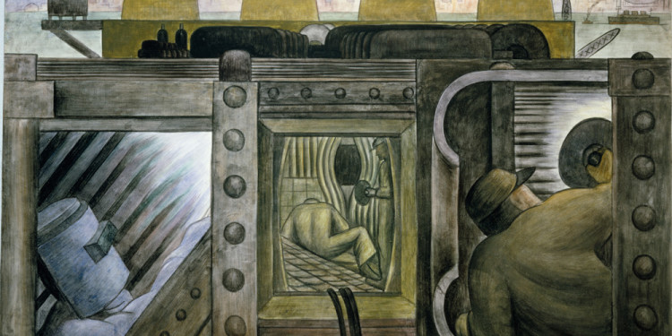 "Diego Rivera. Electric Power. 1931-32. Fresco on reinforced cement in a galvanized-steel framework, 58 1/16 x 94 1/8"" (147.5 x 239 cm). Private collection, Mexico © 2011 Banco de México Diego Rivera & Frida Kahlo Museums Trust, México, D.F./Artists Rights Society (ARS), New York"
