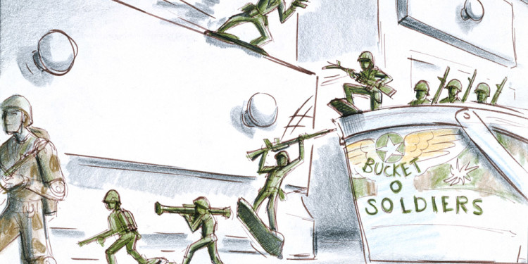 Joe Ranft Storyboard: Army Men TOY STORY (1995) Matita e inchiostro