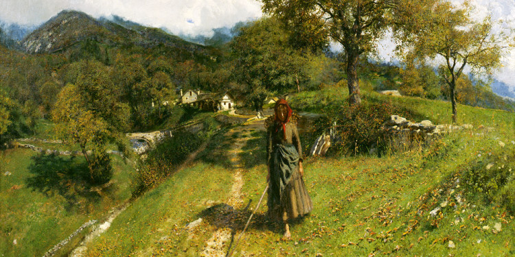 Andrea Tavernier (Torino 1858 – Grottaferrata, Roma 1932) Mattino autunnale, 1902 Olio su tela, 134 x 210 cm Collezione Intesa Sanpaolo