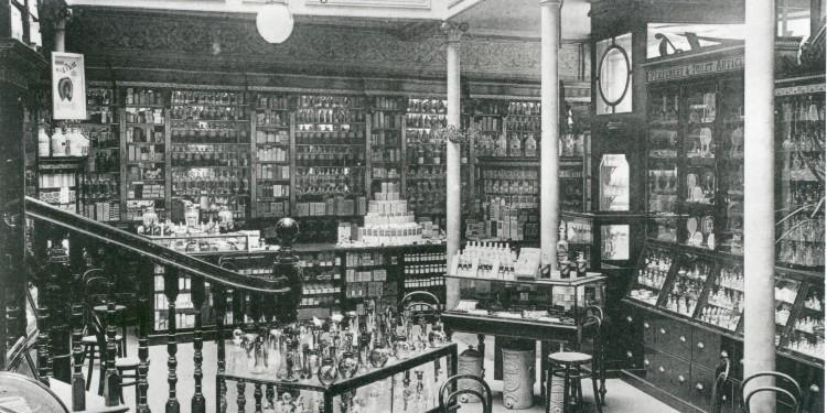 Boots Pelham street store - Area Profumeria, Nottingham, 1896
