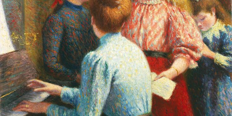 Federico Zandomeneghi (Venezia 1841 - Parigi 1917) La leçon de chant (La lezione di canto), 1890 olio su tela, 65 x 54,6 cm Collezione Intesa Sanpaolo