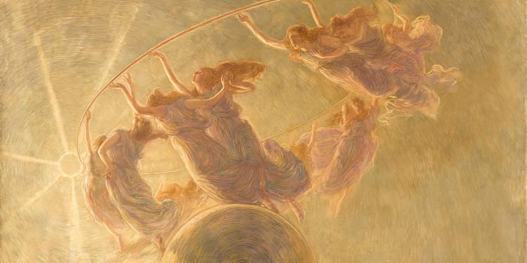 Gaetano Previati (Ferrara 1852 – Lavagna, Genova 1920) La danza delle Ore, 1899 Olio e tempera su tela, 134 x 200 cm Collezione Fondazione Cariplo