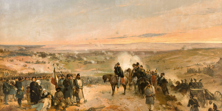 Gerolamo Induno (Milano 1825 – 1890) La battaglia della Cernaja, 1857 Olio su tela, 292 x 494 cm Collezione Fondazione Cariplo