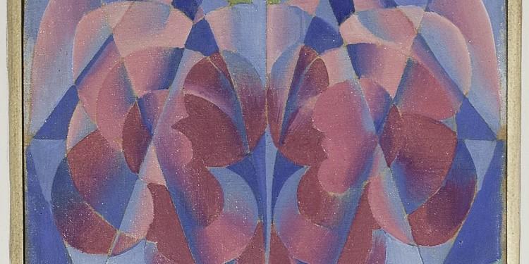 Giacomo Balla, Leggerezza di rose, 1915-1916, tempera su tela, 32,5 x 23,5 cm, collezione privata