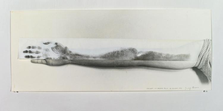 Giuseppe Penone, Svolgere la propria pelle - 11 giugno 1970, 1970, fotografia e inchiostro tipografico su carta, 33,5 x 82,8 cm