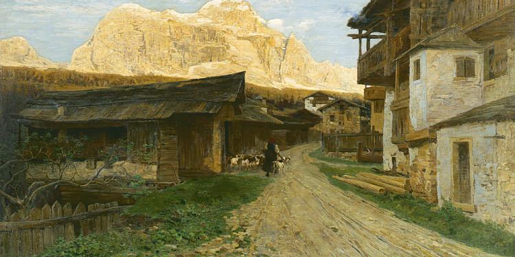 Guglielmo Ciardi (Venezia 1842 – 1917) Il Civetta, 1896 Olio su tela, 131 x 221 cm Collezione Intesa Sanpaolo