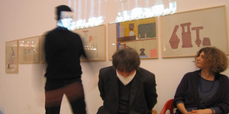 Performance alla presentazione Non capisco un'acca di Maurizio Ceccato alla Libreria extemporanea 121- Milan