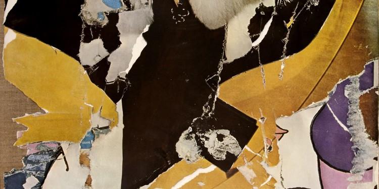 Mimmo Rotella, Donna Jordan, anni Settanta, décollage su tela, multiplo, 109,4 x 66 cm, collezione Fabio Bello, Milano