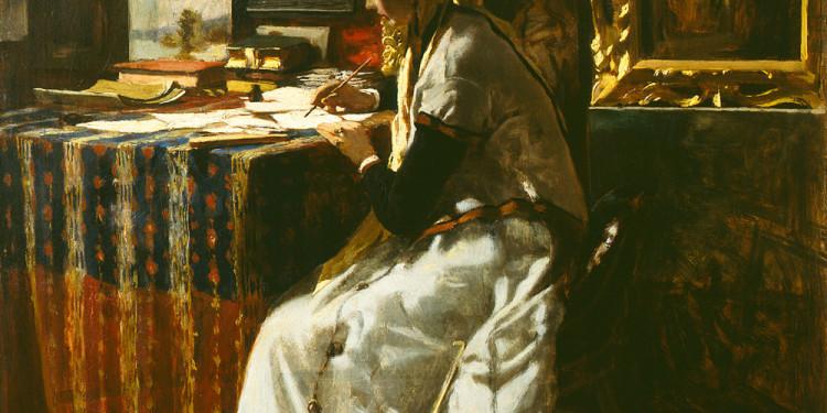 Telemaco Signorini (Firenze 1835 – 1901) Non potendo aspettare, 1867 Olio su tela, 46,6 x 37,5 cm Collezione Fondazione Cariplo