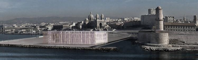 MuCEM (Musée des Civilisations de l'Europe et de la Méditerranée), Marseille. Crédit photographique : Rudy Ricciotti Architecte