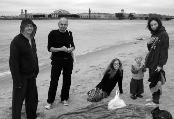 Oleg Vorotnikov, Artur Zmijewski, Zofia Waslicka, Kasper Nienagliadny Sokol, Natalya Sokol. Photo: unknown