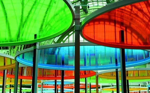 Daniel Buren, Excentrique(s), travail in situ, 2012, Monumenta, Grand Palais, Paris