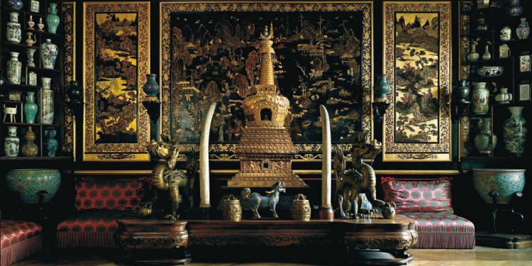 Le musée chinois de l'Impératrice (1863), détail du salon des Laques © Giovanni Ricci Novara - FMR / Château de Fontainebleau