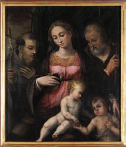 La Sainte Famille, Samoreau, Eglise Saint-Pierre, XVIe siècle, huile sur bois, 70 x 60 cm © Yvan Bourhis - CG 77