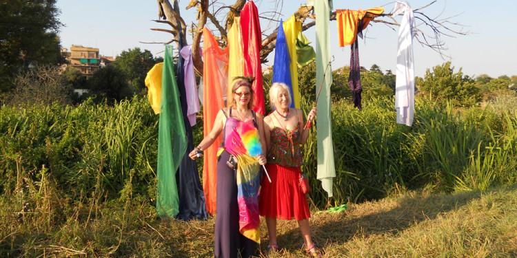 Reynolds e Jill Rock - Performance Rainbow in Caffarella