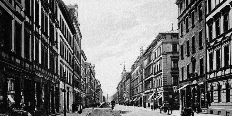 MARCEL DUCHAMP - LE MYSTÈRE DE MUNICH Barer Straße ca. 1910, right side foreground, house no. 65, Marcel Duchamp¿s flat in Munich 1912 © Stadtarchiv München