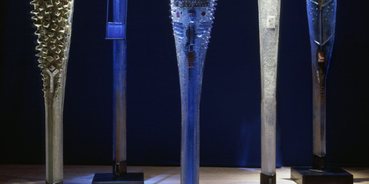 Watchers, 2004 -2006 Different sizes (1900 mm - 2010 mm) sandcast glass with polished area photo: Anders Qwarnstöm courtesy of the artist