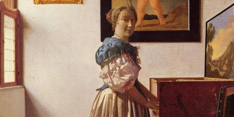 Johannes Vermeer Giovane donna in piedi al virginale, 1670/1673 ca. Olio su tela, 51.7 x 45.2 cm The National Gallery, Londra