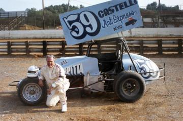Scarpitta dopo una corsa sulla pista di Hagerstown, Maryland, 23 agosto 1987 Courtesy Archivio Salvatore Scarpitta presso Luigi Sansone, Milano