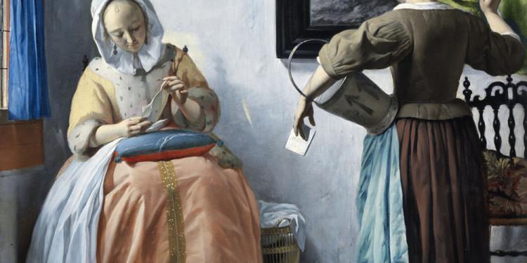 Gabriel Metsu Donna che legge una lettera, 1664/1666 ca. Olio su tavola, 52.5 x 40.2 cm National Gallery of Ireland, Dublino