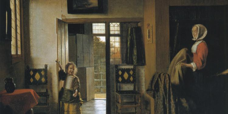 Pieter de Hooch La camera da letto, 1658/1660 ca. Olio su tela, 51 x 60 cm National Gallery of Art, Washington