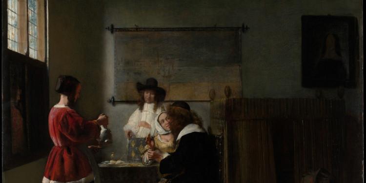 Pieter de Hooch La visita, 1657 ca. Olio su tavola, 67.9 x 58.4 cm The Metropolitan Museum of Art, New York