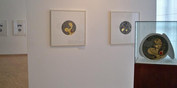 Allestimento della mostra antologica di Donato Di Zio a cura di Gillo Dorfles all'Aurum di Pescara, 2011 - Foto Fabio Di Zio