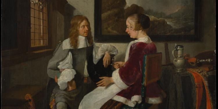 Quirijn van Brekelenkam Conversatione sentimentale, 1661/1662 ca. Olio su tavola, 41.3 x 35.2 The Metropolitan Museum, New York