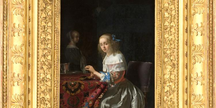 Frans van Mieris Giovane donna con perle, 1658 Olio su tavola, 22 x 17 cm Musée Fabre, Montpellier