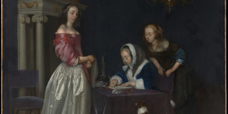 Gerard ter Borch Curiosità, 1660/1662 ca. Olio su tela, 76.2 x 62.2 cm The Metropolitan Museum of Art, New York