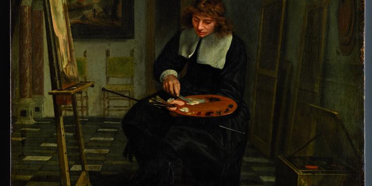 Michiel van Musscher Artista nel suo atelier, 1665 ca. Olio su tavola, 47.3 x 36.5 cm Liechtenstein Museum, Vienna