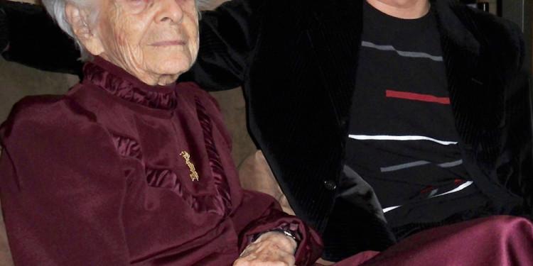 Rita Levi-Montalcini con Donato Di Zio. Roma 2009