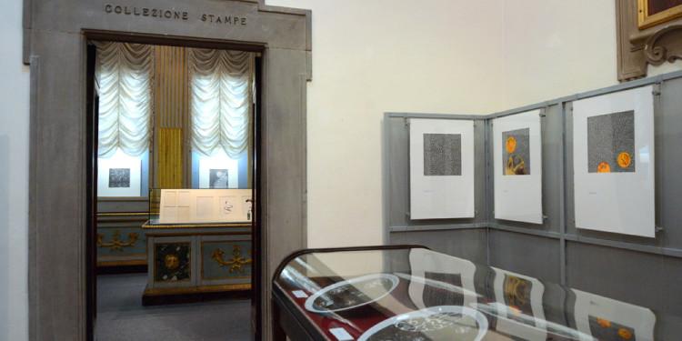 Allestimento della mostra di Donato Di Zio a cura di Gillo Dorfles, Biblioteca Marucelliana, Firenze 2012 Foto Paolo Mariani