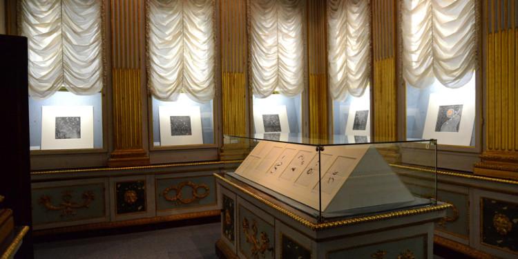 Allestimento della mostra di Donato Di Zio a cura di Gillo Dorfles, Biblioteca Marucelliana, Firenze 2012. Foto Paolo Mariani