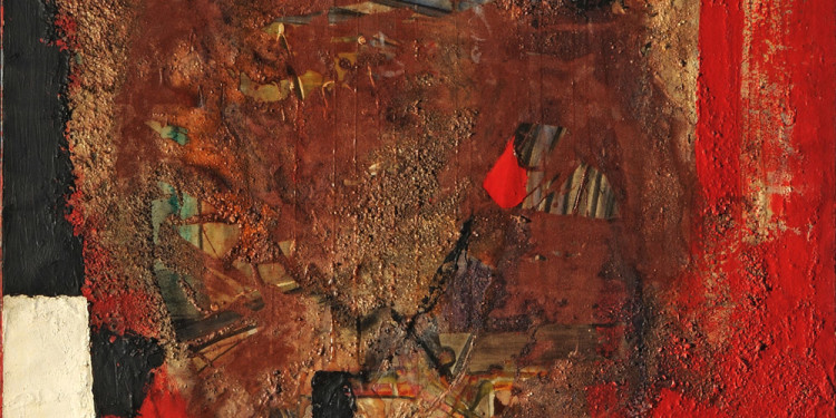 Alberto Burri (Città di Castello, Perugia 1915 - Nice 1995) Red Black, 1953 oil, enamels, canvas, pumice sand on canvas, 98.8 x 85.2 cm Intesa Sanpaolo Collection Gallerie d'Italia - Piazza Scala, Milan