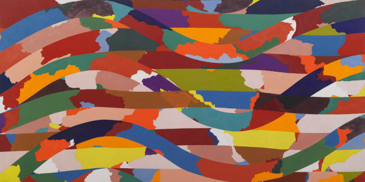 Piero Dorazio (Roma 1927 - Perugia 2005) Snake, 1968 oil on canvas, 175 x 350 cm Intesa Sanpaolo Collection Gallerie d'Italia - Piazza Scala, Milan
