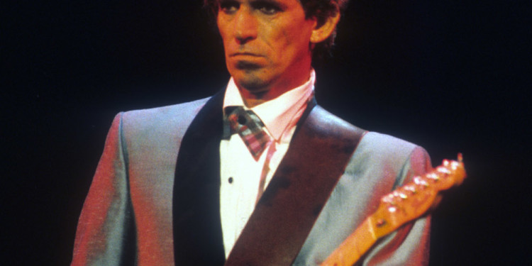 Chuck Berry Hail! Hail! Rock 'n' Roll. 1987. USA. Directed by Taylor Hackford. Pictured: Keith Richards. Courtesy Ken Regan/Universal Pictures.