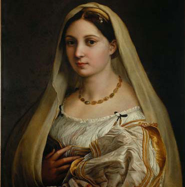 Raphaël, Portrait de femme, dit La Velata. 1512-1518. Huile sur toile. 82 x 60,5 cm. Florence, Palazzo Pitti, Galleria Palatina © Scala, Florence
